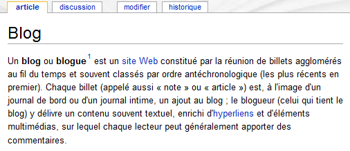 def blog wikipedia