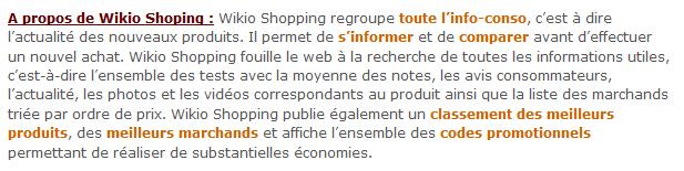 Résultats de recherche shopping « Wikio Blog_1280930922873